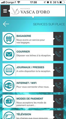 Application mobile pour hôtels et résidences