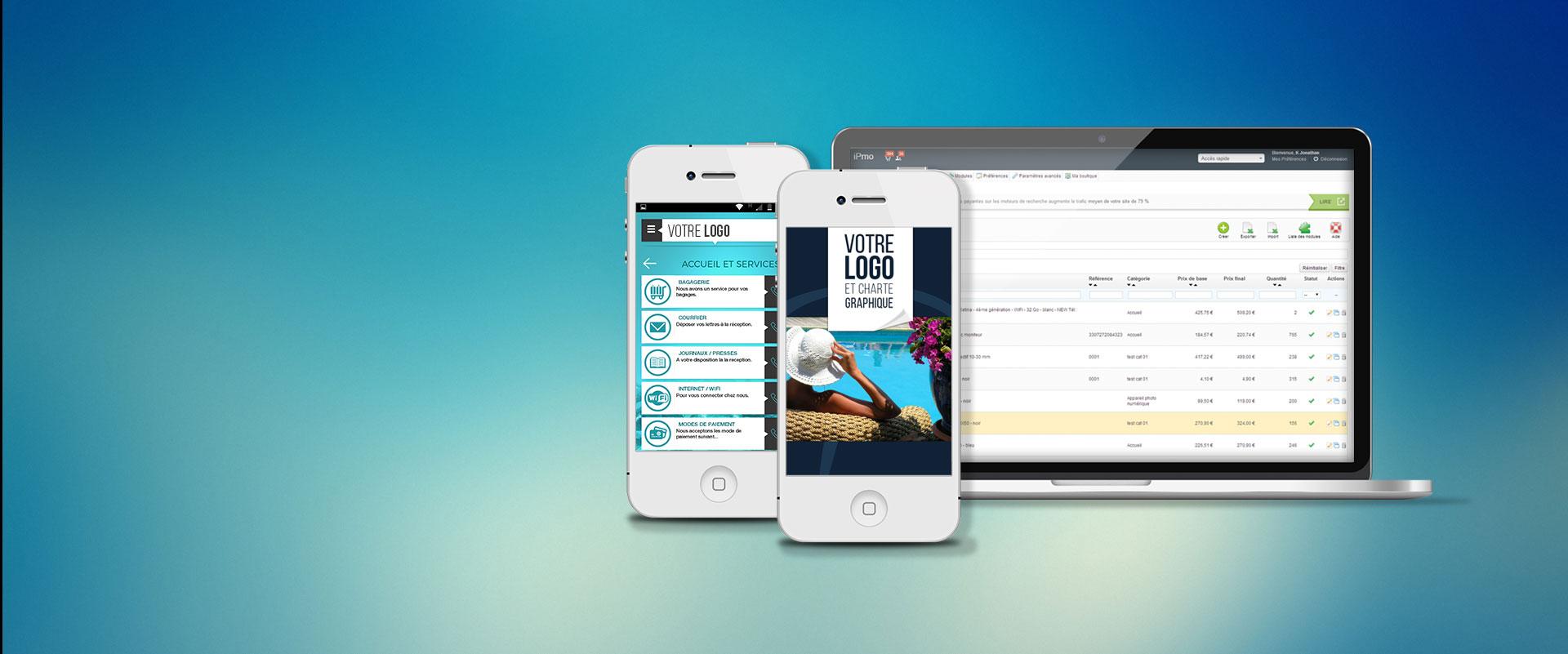 Application mobile relation client adminsitrable